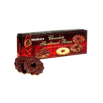 Walkers'Chocolate Half-Covered Shortbread Rings 5.3 oz
