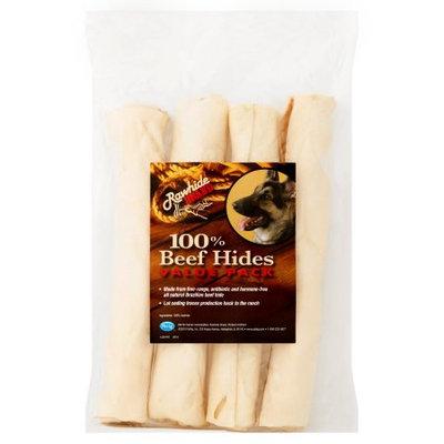 Pet Ag 4 Pack Rawhide Brand Chunky Chew Natural Roll 9' x 1' Dog Chews
