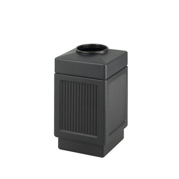 Safco Products 9475BL Canmeleon Recessed Panel Trash Can, Top Open, 38-Gallon, Black