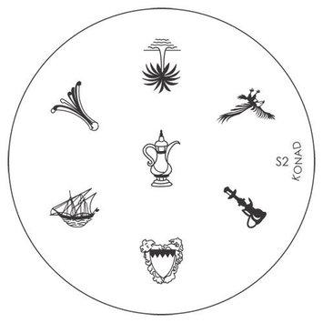 Konad Stamping Nail Art Image Plate S2