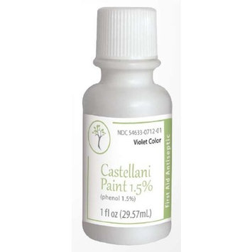 Castellani Paint Phenol 1.5 Percent Modified Violet Color First Aid Antiseptic Agent - 1 Oz