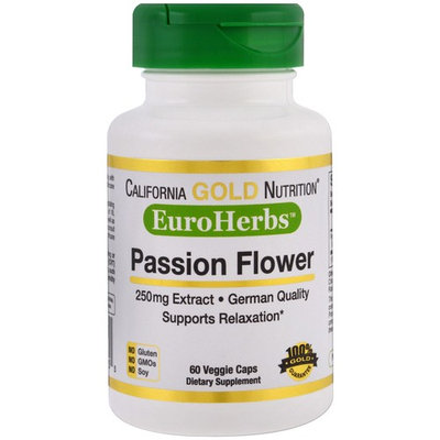 California Gold Nutrition, EuroHerbs, Passion Flower, 250 mg , 60 Veggie Caps