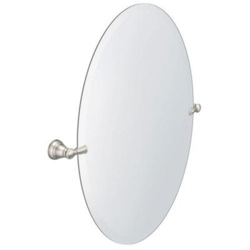 MOEN Banbury 26 in. x 23 in. Frameless Pivoting Wall Mirror in Brushed Nickel