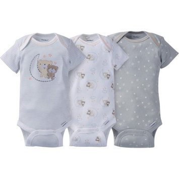 5772 Gerber Legendary Blades Gerber Newborn Baby Boy or Girl Unisex Assorted Short Sleeve Onesies Bodysuits, 3-Pack