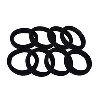 100PCS Thicken Seamless Ponytail Elastic Stretchy Hairband Hair Tie-Hair Styling Tools Essential Rubber Band Ponytail Holder (Black)