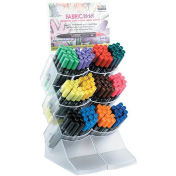 Uchida Ball & Brush Fabric Marker Display 144Pcs-12 Each Of 12 Colors