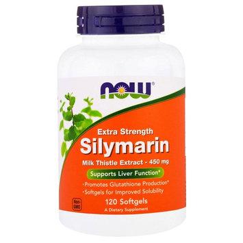 Extra Strength Silymarin Milk Thistle Extract 450 mg Now Foods 120 Softgel