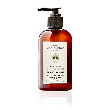 Wisteria and Jasmine Premium Hand Wash, Moisturizing Luxury Hand Wash for Men and Women, 8 Fl Oz
