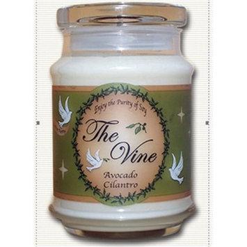 The Vine Candles 15301X 12 oz Avocado Cilantro Jar Candle - isaiah 40-31