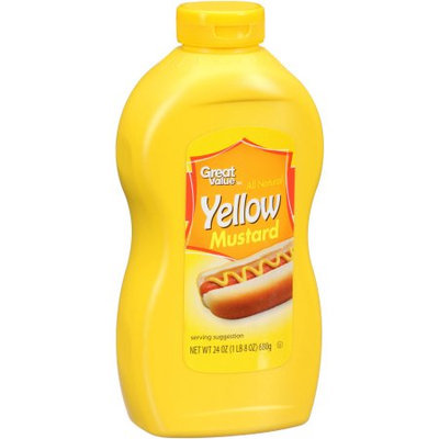 Great Value: All Natural Yellow Mustard, 24 Oz