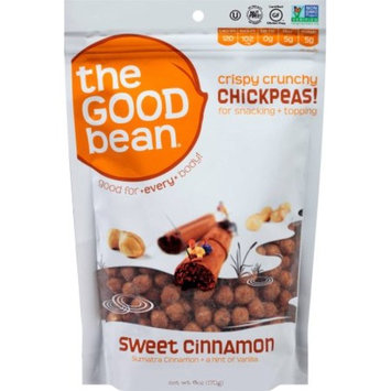 The Good Bean Chickpea Snacks, Sweet Cinnamon, Gluten and Nut Free, 6 Ounce