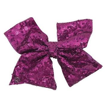 JoJo Siwa Large Cheer Hair Bow (Dark Purple Sequined)