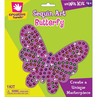 Fibre Craft Sequins Mosaic Kit Makes 1-Butterfly