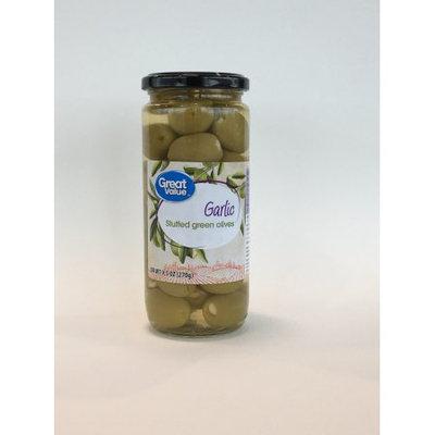 Great Value Garlic Stuffed Green Olives