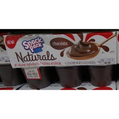 Hunt's Snack Packs Pudding Naturals chocolate 22.5 oz(3.75ozx6)