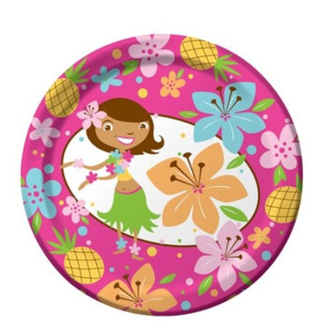 Creative Converting Pink Luau Fun 8 Count Paper Lunch Plates