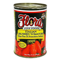 Flora Italian Crushed Tomatoes 14oz - Packed from Harvest Fresh Tomatoes, 100% Italian - We've been in business for over 42 years! If it's Italian..It's Flora