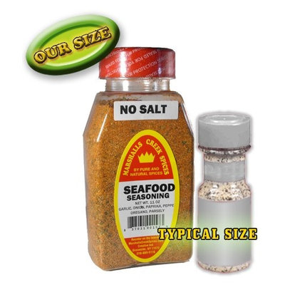 Marshalls Creek Spices Refill Pouch Seafood No Salt Seasoning, 11 Ounce