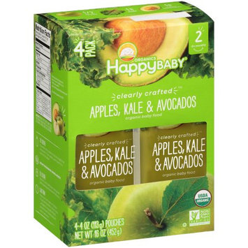 Nurture, Inc. Happy Baby ® Organics Clearly Craftedâ ¢ Apples, Kale & Avocados Organic Baby Food 4-4 oz. Pouches