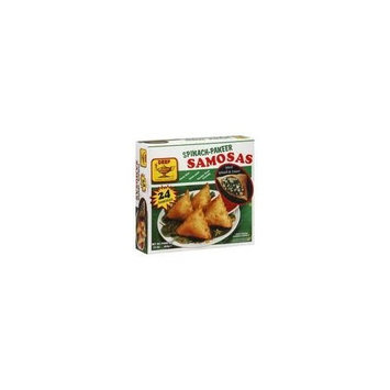 Deep frozen samosa stuffed with spiced spinach and Paneer 24 pieces