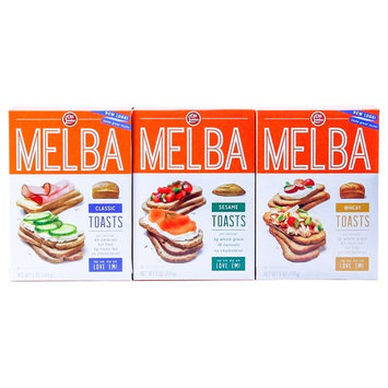 London - Melba Toast - Classic, Wheat, Sesame -VARIETY Pack -5 ounce (Pack of 3)