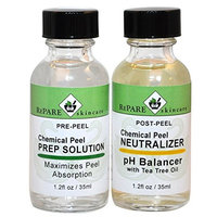 Chemical Peel Kit Prep Solution & Neutralizer - TCA, Glycolic, Salicylic, Jessner's, Lactic Acid Peels