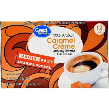 Great Value Caramel Cr me Coffee Single Serve Cups, Medium Roast, 12 Count