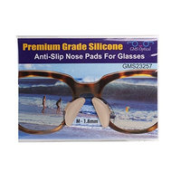 1.8mm X 17mm Non-Slip Nose Pads for Glasses by GMS Optical - Premium Grade Silicone - 1 Pair Clear