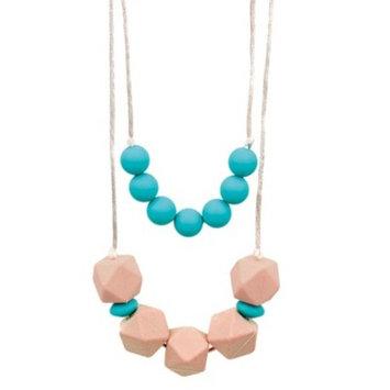 Bumkins Nixi Paloma Silicone Teething Necklace, Turquoise