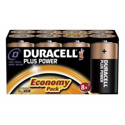 Duracell MN1300 Plus Power Alkaline D Size Batteries