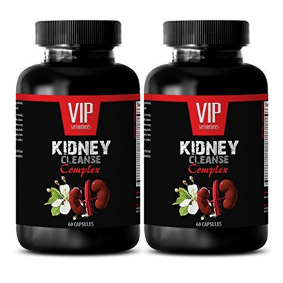 Frequent urination men - KIDNEY CLEANSE COMPLEX - Blood pressure help - 2 Bottles 120 Capsules