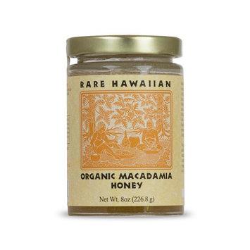 Rare Hawiian Honey Rare Hawaiian Organic Macadamia Nut Honey, 8 Ounce