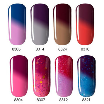 Modelones Gel Nail Polish Set - Soak Off UV LED 8 Tiny Bottles Gift Box