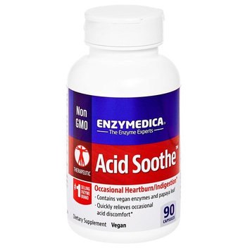 Enzymedica - Acid Soothe, Assists with Acid Reflux, Occasional Heartburn & Indigestion, 90 Capsules (FFP)