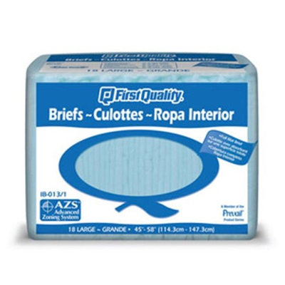 Firstqualityproducts Prevail IB-013/1 Briefs-Large-72/Case