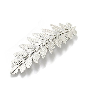 2PCS Girls Women Metal Leaf Branch French Updo Hair Pin Wedding Hair Clip Party Hairpins Hair Barrettes Hair Accessory