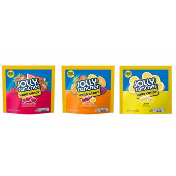 Jolly Rancher Hard Candy, Fruity Bash, Awesome Reds, Lemon Variety Pack (Pack of 3)