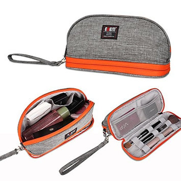 BUBM Double Layer Handy Cosmetic Pouch Clutch Makeup Bag