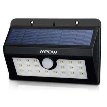 Mpow Super Bright 20 LED Solar Powered Wireless Weatherproof Outdoor Light Motion with 3 Intelligent Modes