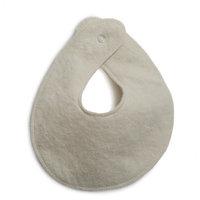 Organic Wool Teething (Drooling) Bib, Natural White, 0-6 months