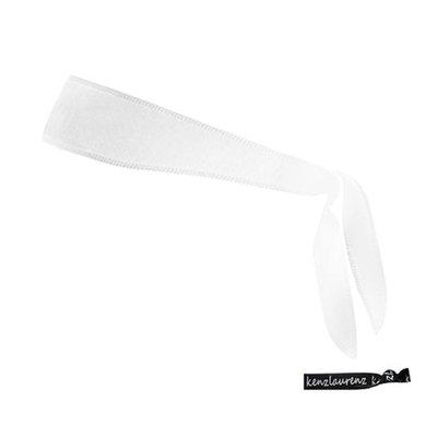 Kenz Laurenz Tie Back Headband Moisture Wicking Athletic Sports Head Band White