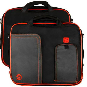 Sumaclife VANGODDY Pindar Tablet Carrying Case Bag w/ Padded and Adjustable Shoulder Strap fits up to 11in x 8in inch Tablets (Black and Red)