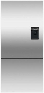 Fisher & Paykel RF170BRPUX6 Bottom Mount Counter Depth Refrigerator with 17.6 Cu. Ft. Total Capacity Ice and Water Dispenser Right Hinged Door Door Storage and Pocket
