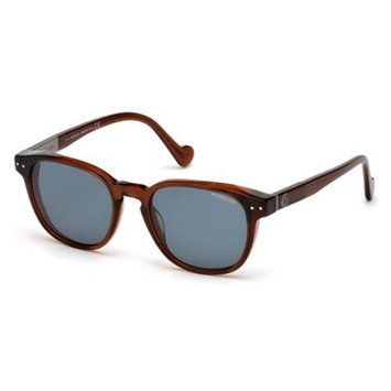 Sunglasses Moncler ML 0010 48C shiny dark brown / smoke mirror