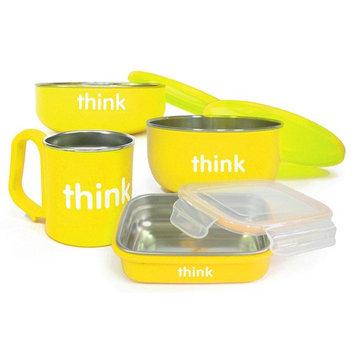 ThinkBaby Complete BPA Free Feeding Set (Yellow)
