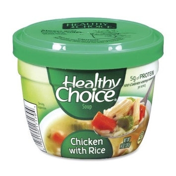 Healthy Choice Soup Cups, Chicken with Rice, 14 oz., 12/CT (17170)