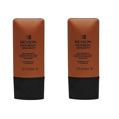Revlon Photoready Skinlights Face Illuminator ~ Bronze Light 400 (2 Pack) + FREE Schick Slim Twin ST for Dry Skin