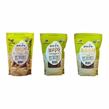 McCabe Organic Tea, 1.5-Pound (Corn Tea, Barley Tea, and Brown Rice Tea) (Pack of 3)