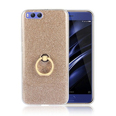 Moonmini Xiaomi Mi 6. Case Cover Sparkling Slim Fit Soft TPU Back Case Cover with Ring Grip Stand Holder 2 in 1 Hybrid Glitter Bling Bling TPU phone Case Cover