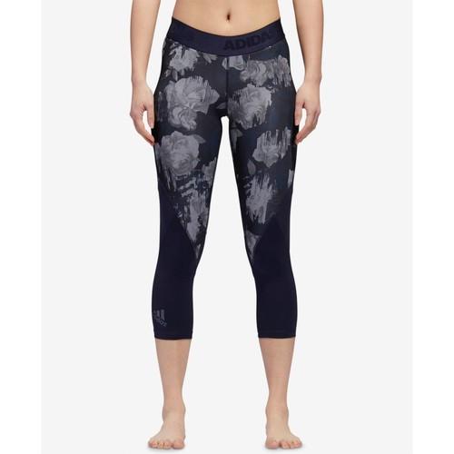 Alphaskin Printed Low-Impact Sports Bra & Mesh-Trimmed Leggings